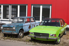 Biberach, Alemanha, o 31 de agosto de 2015:: Oldtimer, carros do vintage Fotografia de Stock Royalty Free