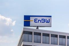 Biberach, Baden-Wurttemberg/germany - 19 08 18: enbw company sign in biberach germany stock photos