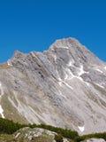 Biberkopf山顶  免版税库存照片