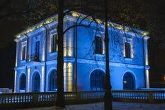 Bibescuhuis bij nacht Royalty-vrije Stock Foto