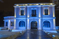 Bibescuhuis bij nacht Royalty-vrije Stock Fotografie