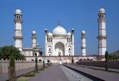 Bibi钾Maqbara坟茔在Aurangabad,马哈拉施特拉,印度 免版税库存照片