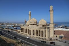 Bibi-Heybat清真寺在巴库,阿塞拜疆 免版税库存照片