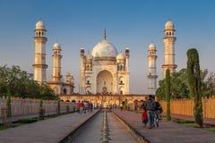 Bibi Ka Maqbara. AURANGABAD, INDIA- 15 JANUARY 2015: Bibi Ka Maqbara also known as mini Taj Mahal bears striking resemblance to the more famous mausoleum stock images