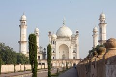 Bibi ka Maqbara i Aurangabad, Indien Royaltyfria Foton