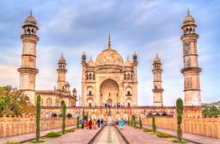 Bibi Ka Maqbara Tomb också som är bekant som Mini Taj Mahal Aurangabad Indien royaltyfria bilder