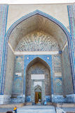 Bibi Khanum陵墓,撒马而罕,乌兹别克斯坦 库存图片