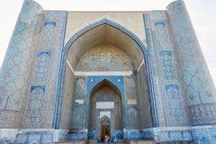 Bibi Khanum陵墓,撒马而罕,乌兹别克斯坦 库存照片