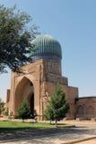 Bibi Khanym清真寺在撒马而罕,乌兹别克斯坦 库存图片