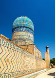 Bibi-Khanym清真寺看法在撒马而罕-乌兹别克斯坦 库存照片