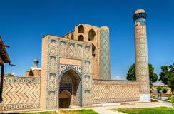 Bibi-Khanym清真寺看法在撒马而罕-乌兹别克斯坦 库存图片