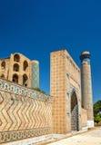 Bibi-Khanym清真寺看法在撒马而罕-乌兹别克斯坦 免版税库存图片