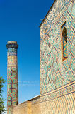 Bibi-Khanym清真寺看法在撒马而罕-乌兹别克斯坦 图库摄影