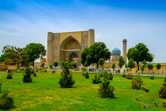 Bibi-Khanym清真寺,撒马而罕,乌兹别克斯坦 图库摄影