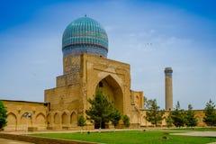 Bibi-Khanym清真寺,撒马而罕,乌兹别克斯坦 库存照片
