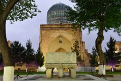 Bibi-Khanym μουσουλμανικό τέμενος Σάμαρκαντ, Ουζμπεκιστάν στοκ εικόνες