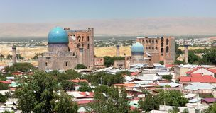 Bibi-Khanym moské från Registan - Samarkand arkivfoton
