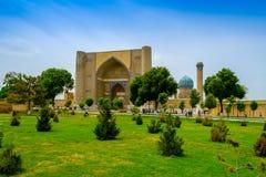 Bibi-Khanym moské, Samarkand, Uzbekistan arkivbild