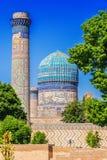 Bibi-Khanym mosk? i Samarkand, Uzbekistan arkivbild