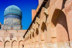 Bibi-Khanym mosk? i Samarkand, Uzbekistan fotografering för bildbyråer