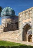 Bibi-Khanym mosque. Architecture of the East. Fragment of the Bibi-Khanym mosque complex, Samarkand, Uzbekistan stock photo