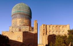 Bibi-Khanym mosque - Registan - Samarkand - Uzbekistan. Evening view of Bibi-Khanym mosque - Registan - Samarkand - Uzbekistan stock images