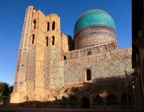 Bibi-Khanym mosque - Registan - Samarkand - Uzbekistan. Evening view of Bibi-Khanym mosque - Registan - Samarkand - Uzbekistan stock photo