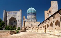 Bibi-Khanym mosque - Registan - Samarkand - Uzbekistan. View from Bibi-Khanym mosque - Registan - Samarkand - Uzbekistan stock photography