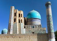 Bibi-Khanym mosque - Registan - Samarkand - Uzbekistan. View from Bibi-Khanym mosque - Registan - Samarkand - Uzbekistan royalty free stock image