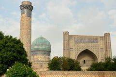 Bibi-Khanym mosque Samarkand, Uzbekistan. View on the Bibi-Khanym mosque, one of the Islamic world's biggest mosques, built by Timur in 15th century stock photography