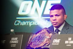 Bibiano Fernandez. At the ONE Championship Heart of Lions press conference at the Marina Bay Sands, Singapore Nov. 7th, 2018 royalty free stock image