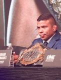 Bibiano Fernandez. At the ONE Championship Heart of Lions press conference at the Marina Bay Sands, Singapore Nov. 7th, 2018 royalty free stock photos