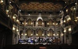 Bibiena剧院和乐队 免版税库存照片