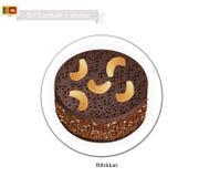 Bibikkan or Sri Lankan Coconut Treacle Cake Royalty Free Stock Photo