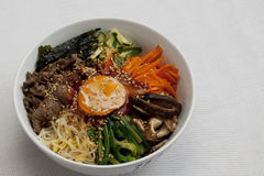 Bibimbap; Korean Mixed Rice Stock Image