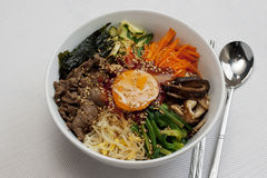 Bibimbap; Korean Mixed Rice Stock Photos