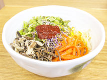 Bibimbab spicy rice mixed with chilli paste in Korean style Royalty Free Stock Photography
