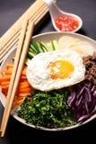 Bibimbap, κορεατικά τρόφιμα στοκ φωτογραφίες