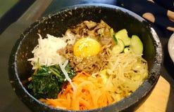 Bibimbap - κορεατικό πιάτο Στοκ εικόνα με δικαίωμα ελεύθερης χρήσης