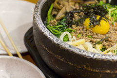 Bibimbap coreano do alimento imagem de stock royalty free
