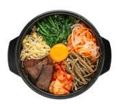 Bibimbap, culinária coreana fotos de stock
