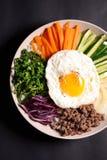 Bibimbap,korean food. Close up on bibimbap,korean food Royalty Free Stock Photos
