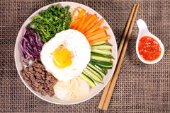 Bibimbap,korean food stock photography
