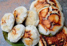 Bibingka –  Coconut Cake. Food from the Philippines Stock Photo