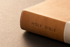 Bible. The spine of the Holy Bible stock image