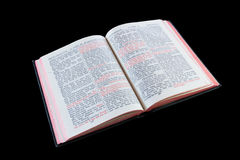 Bible. With Jesus' words in red, isolated on black background with clipping path Royalty Free Stock Photography