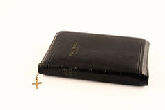 Bible 2. Old, wel used bible.  Zippered with cross Stock Photos