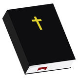 Bible. Illustration of a Bible with a black leather cover Stock Photography