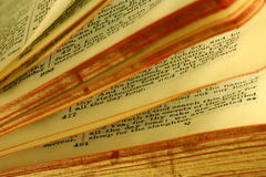 Bible. Pages of the bible stock photo