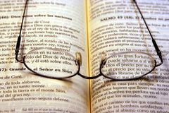 The Bible. Bible and glasses Royalty Free Stock Photos